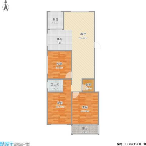 兴元嘉园2室1厅1卫1厨108.00㎡户型图