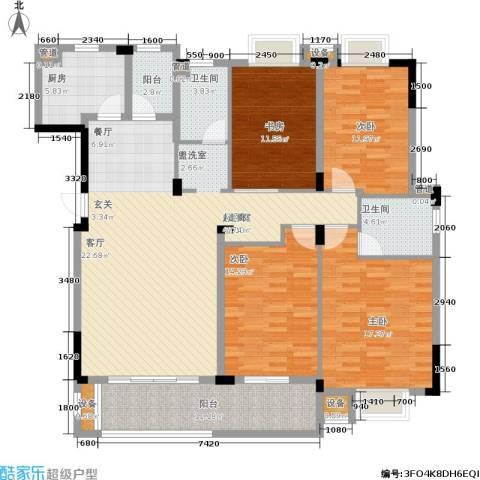 保利天心嘉园4室0厅2卫1厨151.00㎡户型图
