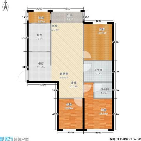 天通苑西一区3室0厅2卫1厨160.00㎡户型图