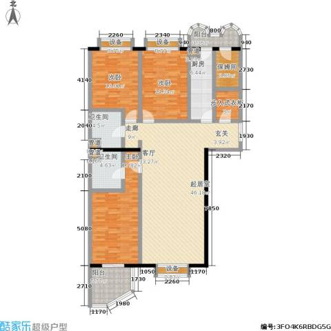 松园小区(宁馨园)3室0厅2卫1厨184.00㎡户型图