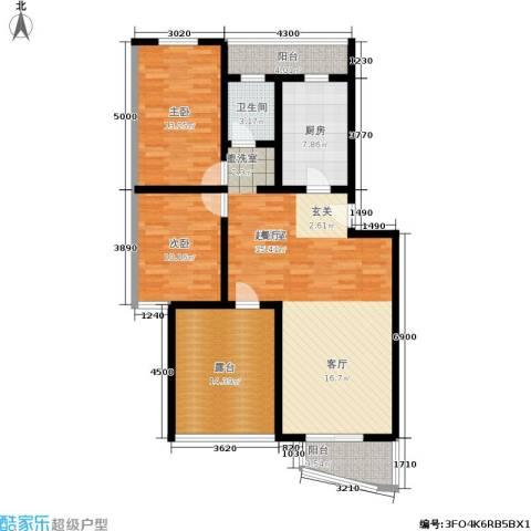 观山小筑(燕水佳园)2室0厅1卫1厨107.00㎡户型图