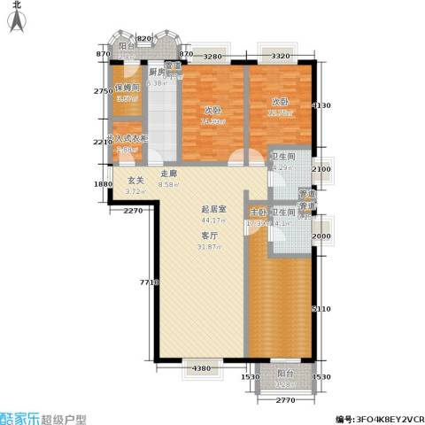 松园小区(宁馨园)3室0厅2卫1厨169.00㎡户型图
