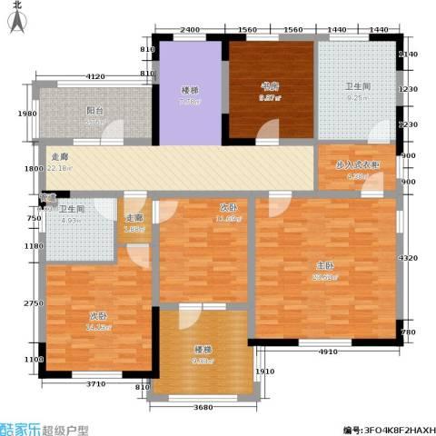 世外桃苑・峰景湾4室0厅2卫0厨168.00㎡户型图