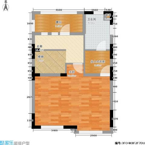 世外桃苑・峰景湾1室0厅1卫0厨74.00㎡户型图