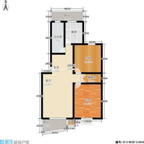 观山小筑(燕水佳园)2室0厅1卫1厨118.00㎡户型图