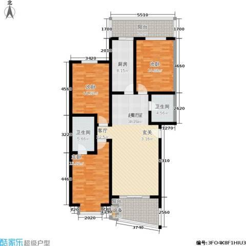 观山小筑(燕水佳园)3室0厅2卫1厨129.00㎡户型图