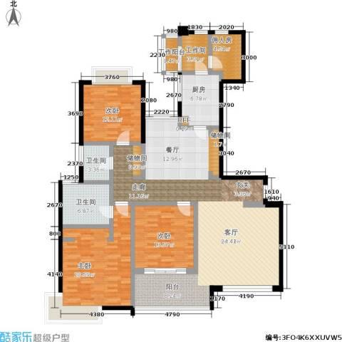 绿洲香岛花园(绿洲长岛花园五期)3室1厅2卫1厨196.00㎡户型图