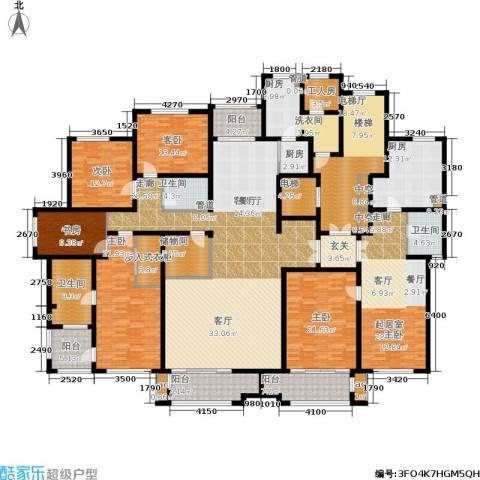 麦迪逊花园二期5室1厅3卫3厨418.00㎡户型图