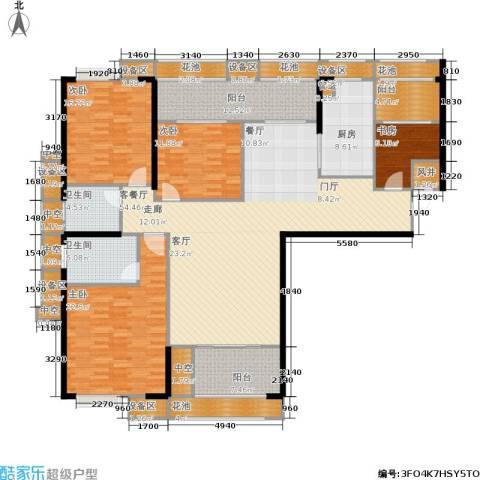 ECO城4室1厅2卫1厨176.90㎡户型图