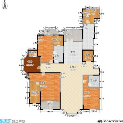 金大元御珑宫廷4室1厅4卫1厨260.00㎡户型图