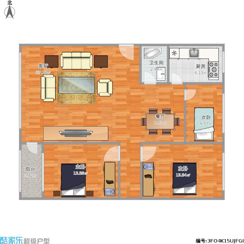 红化惠泽园供暖公司家属楼的户型图