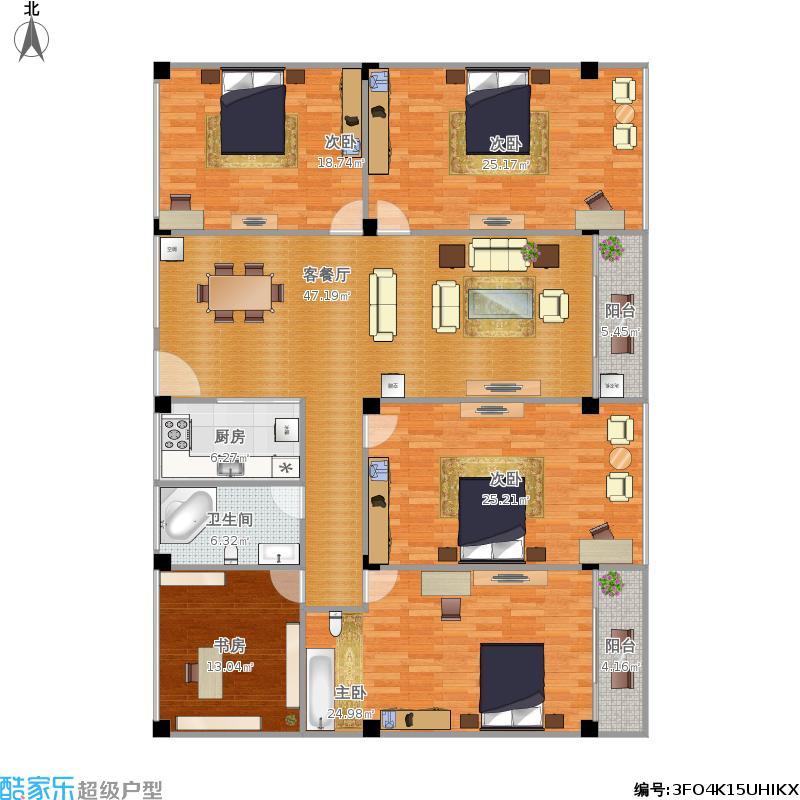 工业园钢圈厂187.2方四室二厅二卫
