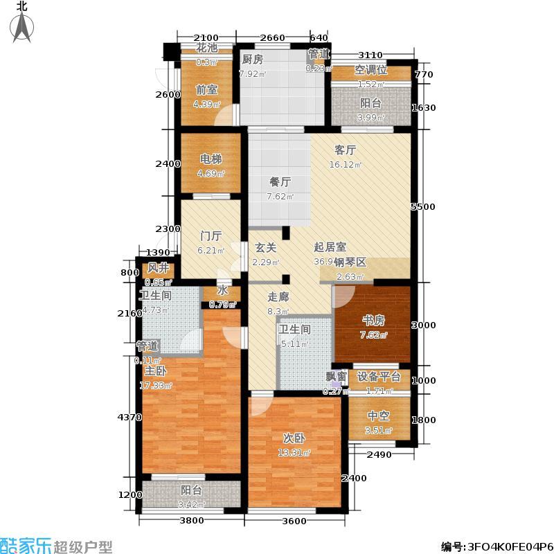 通和府尚公馆138.00㎡B标准层-奇数户型
