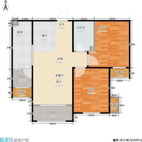 三箭汇福山庄2室1厅1卫1厨82.00㎡户型图