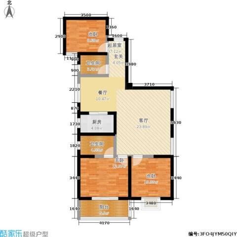 天伦御城龙脉3室0厅2卫1厨115.00㎡户型图