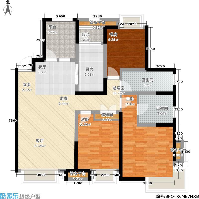 华润置地橡树湾二期E2户型3室2厅2卫户型3室2厅2卫