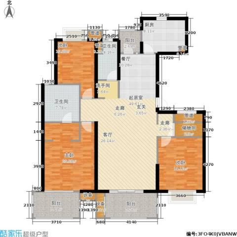 虹桥晶典苑3室0厅2卫1厨154.00㎡户型图
