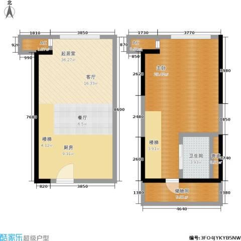 越秀星汇云锦1室0厅1卫0厨88.00㎡户型图