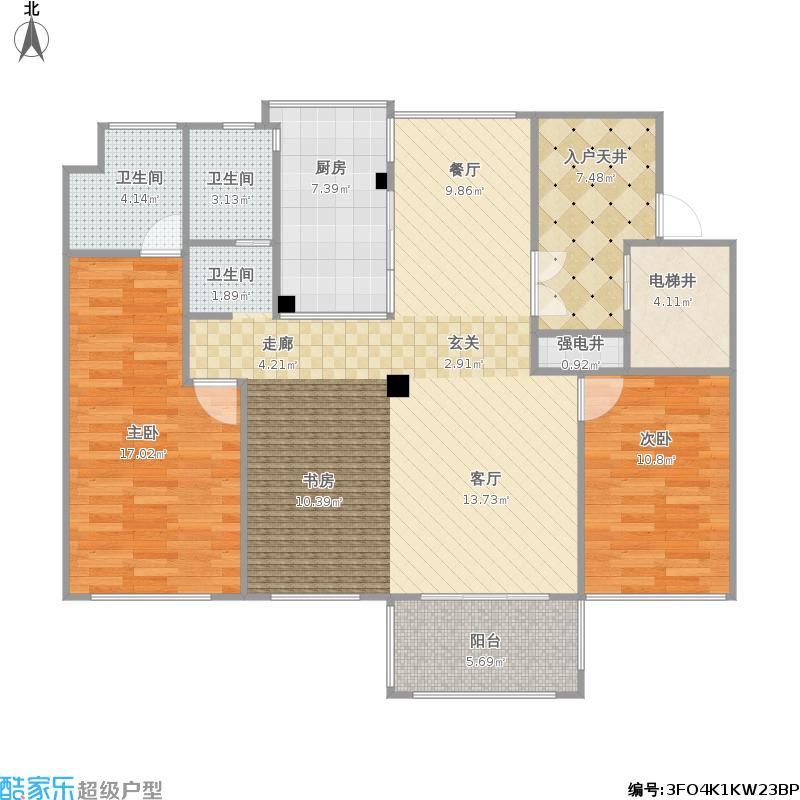 118方三室两厅(大客厅)的装修方案