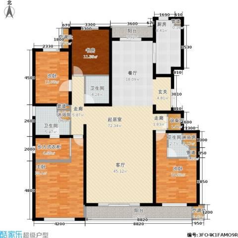 万科蓝山4室0厅3卫1厨213.00㎡户型图
