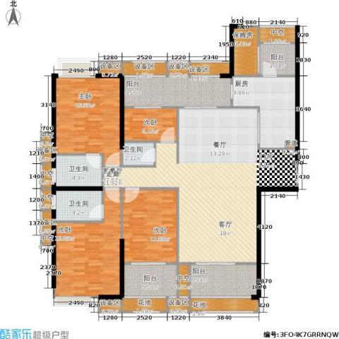 ECO城4室1厅3卫1厨186.00㎡户型图