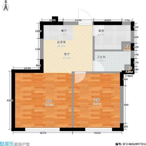 御龙湾1室0厅1卫1厨55.00㎡户型图