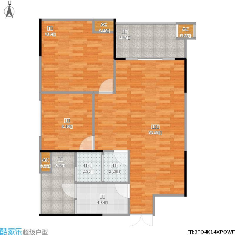 广厦名都92平5栋05户型两室两厅一卫