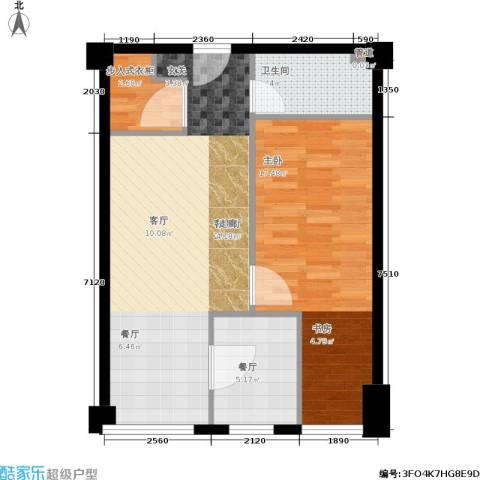 麦迪逊花园二期1室2厅1卫0厨75.00㎡户型图