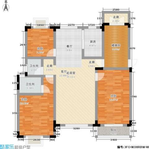 格林馨园3室0厅2卫1厨99.48㎡户型图
