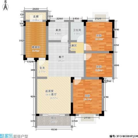 格林馨园3室0厅1卫1厨90.51㎡户型图