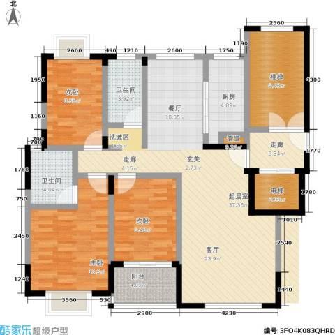 格林馨园3室0厅2卫1厨101.71㎡户型图