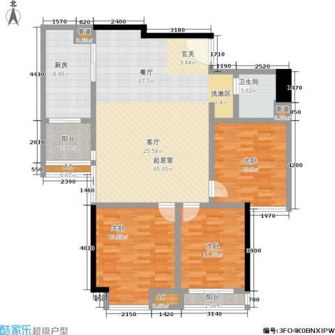 曼城国际3室0厅1卫1厨119.00㎡户型图
