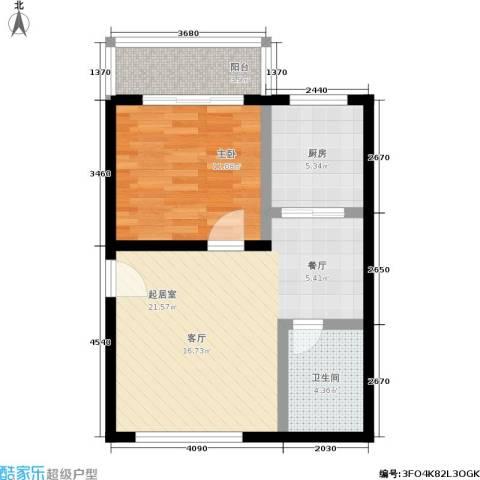 大华锦绣1室0厅1卫1厨54.00㎡户型图