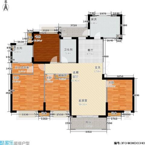 苏宁荣悦4室0厅2卫1厨144.00㎡户型图