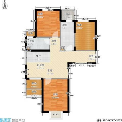 绿岛江湾城2室0厅1卫1厨90.00㎡户型图