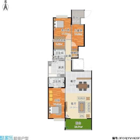 逸翠园尚府3室1厅2卫1厨192.00㎡户型图