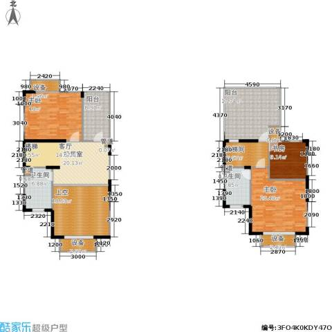 绿岛江湾城3室0厅2卫0厨155.00㎡户型图