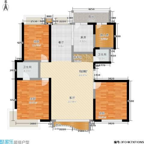 大舜天成3室1厅2卫1厨164.00㎡户型图