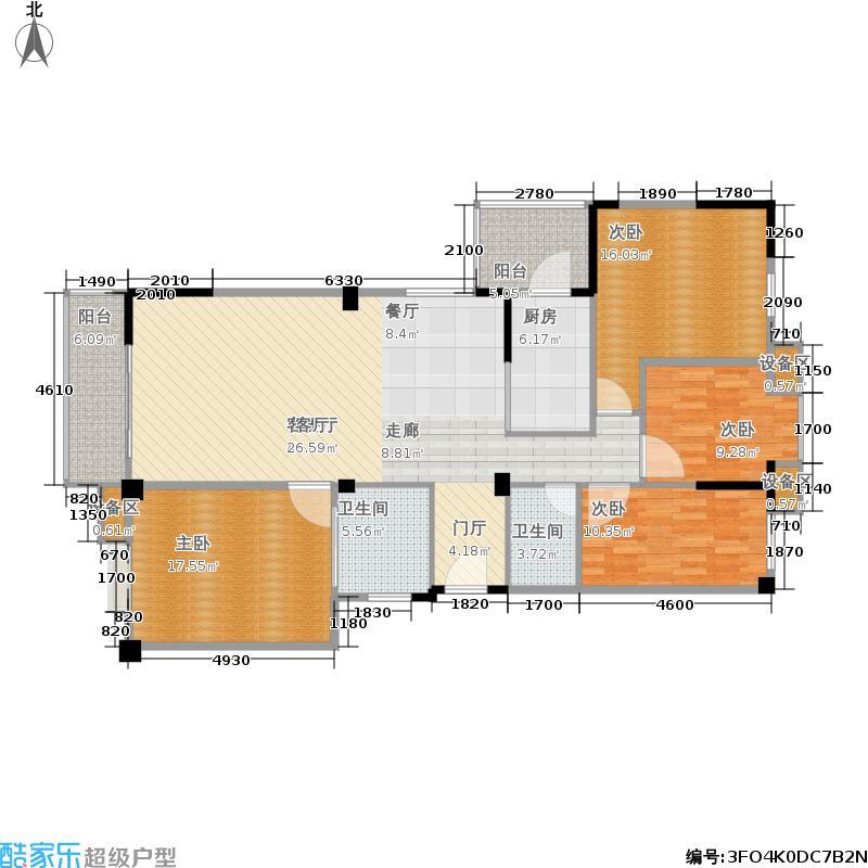 北郡144.00㎡一期5号楼标准层A户型