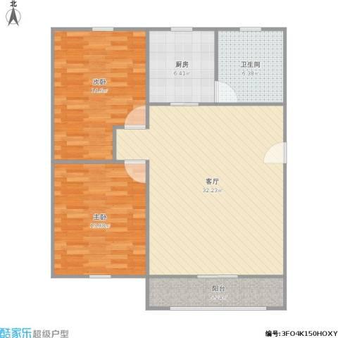 天乐小区2室1厅1卫1厨105.00㎡户型图