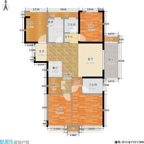 天正理想城4室1厅2卫1厨120.00㎡户型图