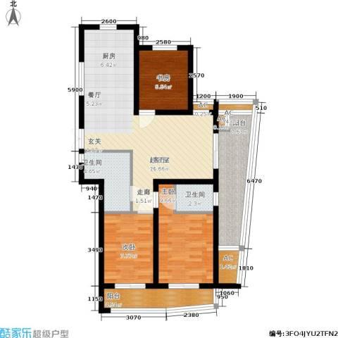 紫金凰庭3室0厅2卫0厨86.00㎡户型图