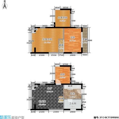 都市斓轩2室0厅1卫0厨98.00㎡户型图