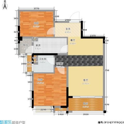 碧桂园欧洲城2室1厅1卫1厨79.00㎡户型图