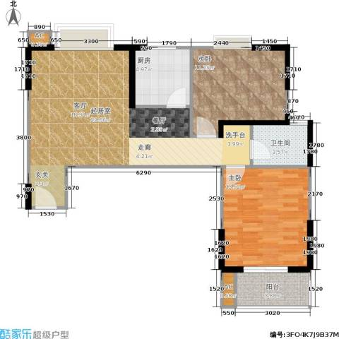 学林雅苑,长安星园2室0厅1卫1厨84.00㎡户型图