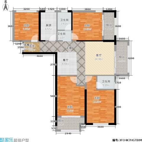 隆源国际城4室1厅2卫1厨137.00㎡户型图