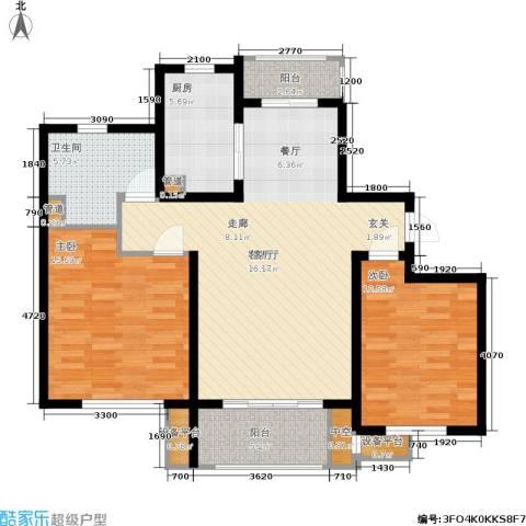 农房万盛金邸2室1厅1卫1厨93.00㎡户型图