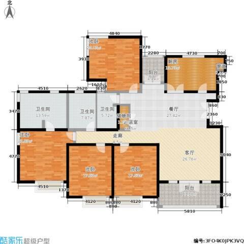 安亭新镇德绍豪斯4室0厅3卫1厨220.00㎡户型图