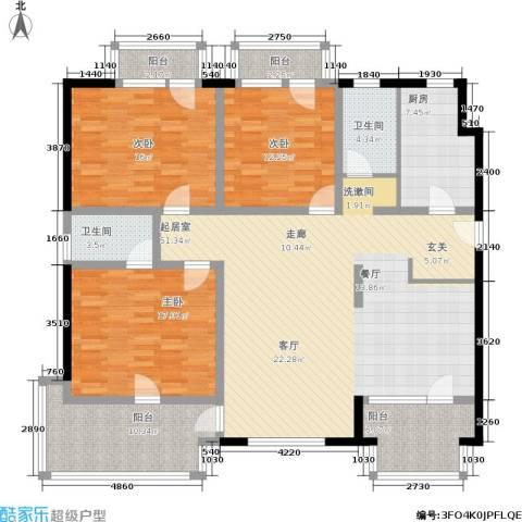 安亭新镇德绍豪斯3室0厅2卫1厨151.00㎡户型图