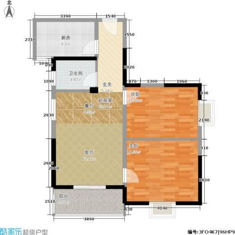 学林雅苑,长安星园2室0厅1卫1厨85.00㎡户型图